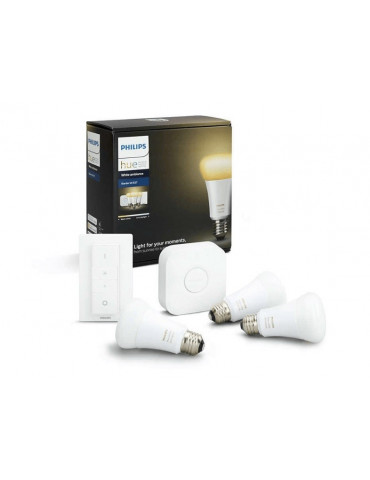 KIT HUE INICIO WHITE AND AMBIANCE E27